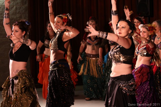 Students of WildCard BellyDance from 2011 Hafla